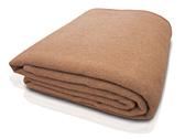 キャメル100%毛布の画像