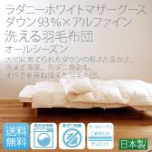 ラダニーホワイトマザーグース×アルファイン洗える羽毛布団【オールシーズン】の画像